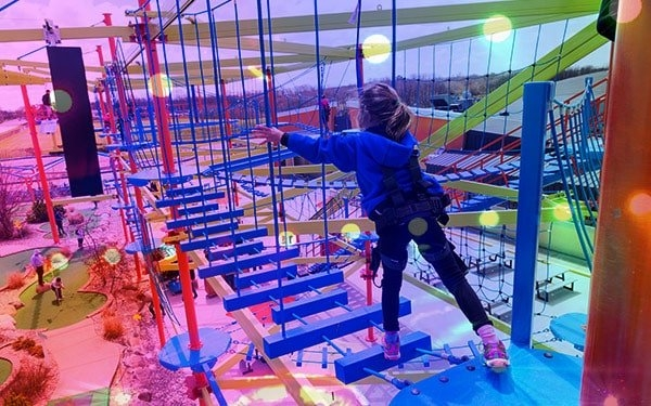 Check out the Ropes Course at Airway Fun Center